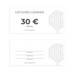Dovanų kuponas 30 EUR vertės 1