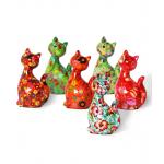 Keramikinė žaisminga pinigų taupyklė katytė Karamelė 1