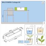 Didelis balkonis augalų vazonas Lechuza Balconera Cottage 80 2
