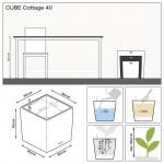 Stilingas augalų vazonas Lechuza Cube Cottage 40 2