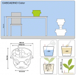 Stilingas augalų vazonas Cascadino Color 1