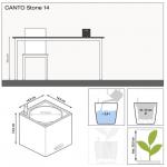 Lechuza augalų vazonas Canto Stone 14 6