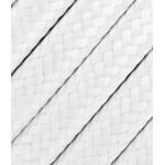 Baltas tekstilinis kabelis 2x0,75 mm² 1