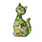 Keramikinė žaisminga pinigų taupyklė katytė Karamelė
