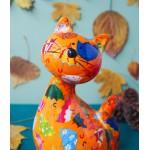 Keramikinė žaisminga pinigų taupyklė katytė Karamelė 2