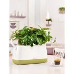 Tvirto plastiko gėlių vazonėlis - krepšys Lechuza Yula 1