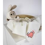 Merinosų vilnos antklodė kūdikiui su drambliuku M6 1