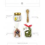 Dovanų rinkinys medaus skanėstas su svarainiais ir kanapių arbata 1
