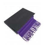 Šiltas violetinis alpakos vilnos šalikas 1