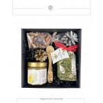 Dovanų rinkinys medaus skanėstas su svarainiais ir kanapių arbata