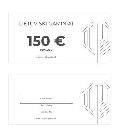 Dovanų kuponas 150 EUR vertės 1
