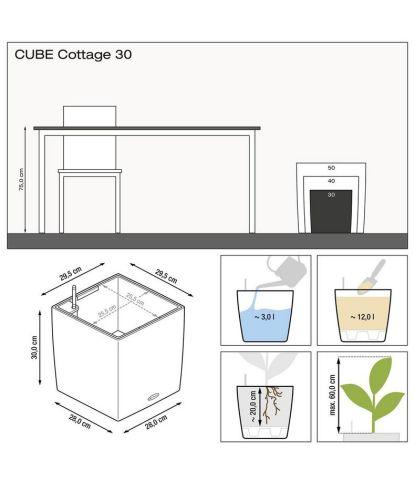 Stilingas lauko vazonas Lechuza Cube Cottage 30 2