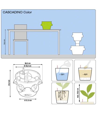 Stilingas augalų vazonas Cascadino Color 3