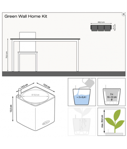 Augalų vazonas Cube Glossy 1
