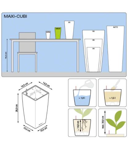 Plastikinis vazonas Maxi Cubi 1