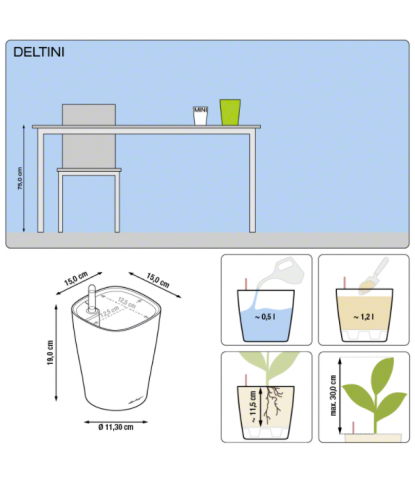 Plastikinis vazonas gėlėms Deltini 1