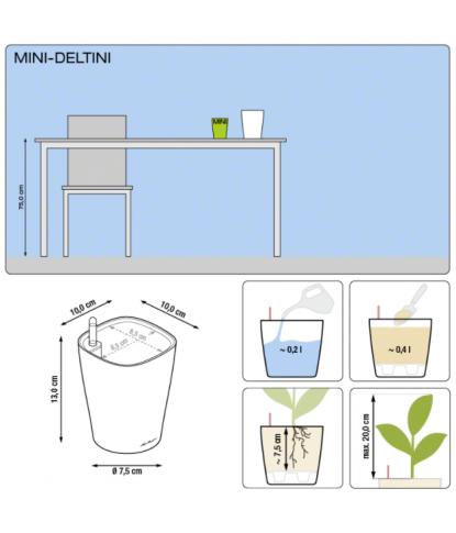 Plastikinis vazonas gėlėms Mini Deltini 1