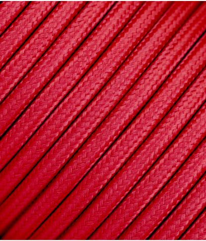 Raudonas tekstilinis kabelis 2x0,75 mm²