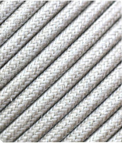 Lininis tekstilinis kabelis 2x0,75 mm²