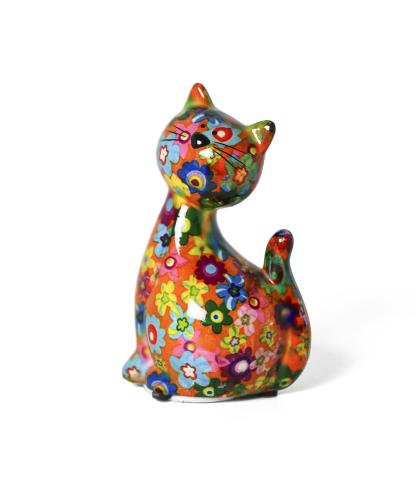 Maža keramikinė pinigų taupyklė katytė Karamelė