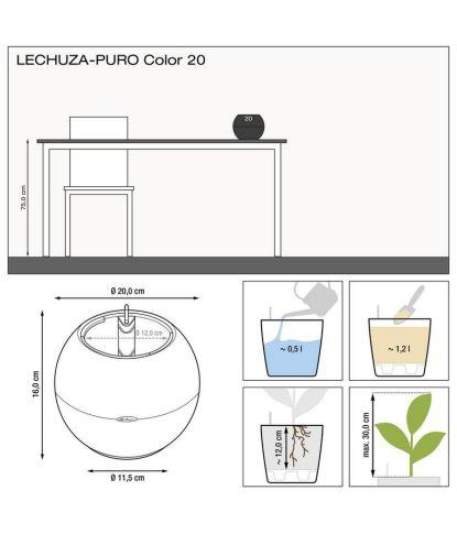 Plastikinis gėlių vazonas Lechuza Puro 20 1