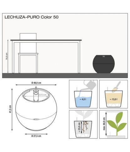 Plastikinis gėlių vazonas Lechuza Puro 50 2