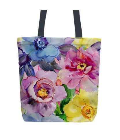 Krepšys 'Gėlių spalvos'