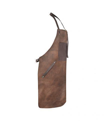 Natūralios odos griliaus prijuostė su kišene 1