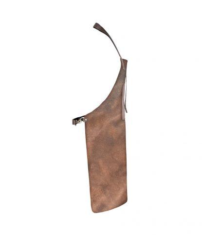 Natūralios odos griliaus prijuostė su kišene 2
