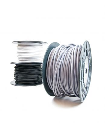 Didmeninė kaina 2x0,75 mm² kabelis šviesiai pilkas 100 m