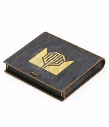 Dovanų dėžutė juoda medinė D6