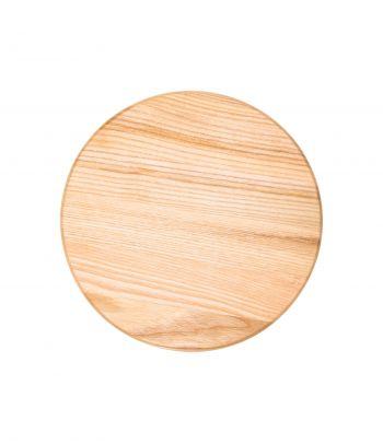 Apvali kvepianti medinė pjaustymo lentelė su kadagiu ir žolynais MD4