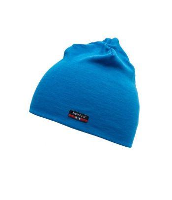 Mėlyna merino vilnos kepurė suaugusiems Devold