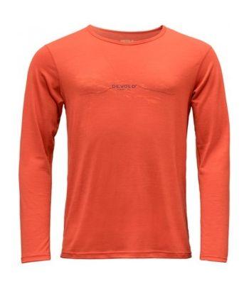 Merino vilnos marškinėliai su printu Devold Brick