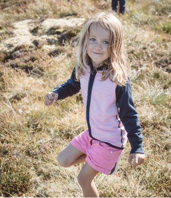 Vaikiškas merino vilnos termo džemperis Devold Lavender
