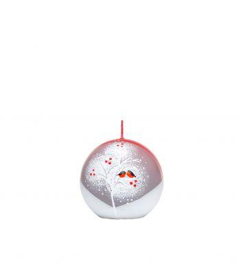 Apvali kalėdiška rankų darbo žvakė