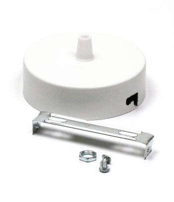 Metalinis gaubtas baltas B1 - 1 skylė