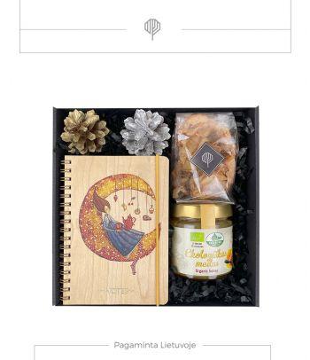 Dovanų rinkinys ekologiškas medus ir užrašų knygelė
