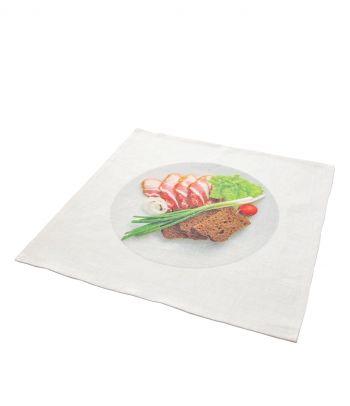 Lininė servetėlė 'Mėsos užkandėlė'