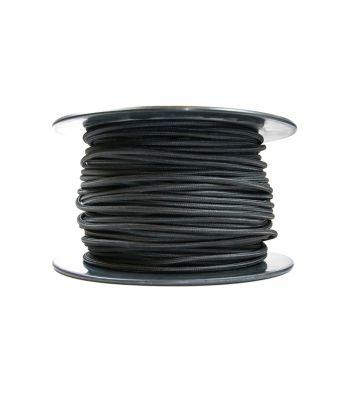 Didmeninė kaina 2x0,75 mm² kabelis juodas 100 m
