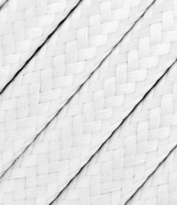 Baltas tekstilinis kabelis 2x0,75 mm²