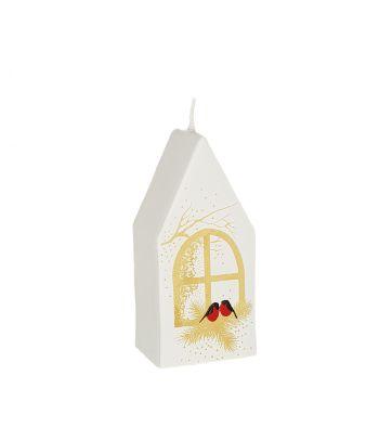 Rankų darbo Kalėdinė žvakė Kalėdinis namukas