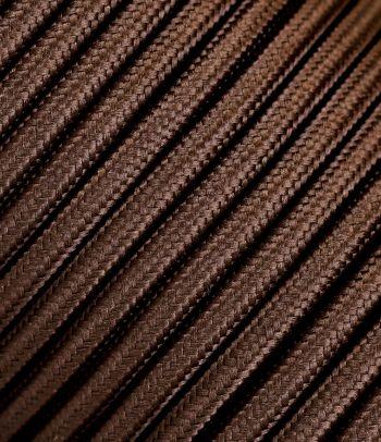 Tekstilinis kabelis 2x0,75 mm², ruda