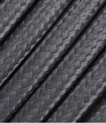 Tekstilinis kabelis 2x0,75 mm², tamsiai pilkas