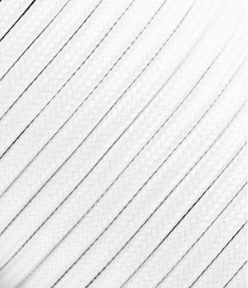 Baltas tekstilinis kabelis 2x1,5 mm²