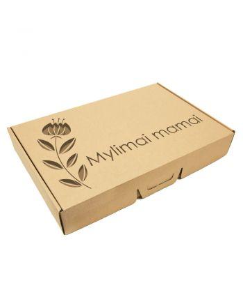 Personalizuota kartoninė dovanų dėžutė mamai