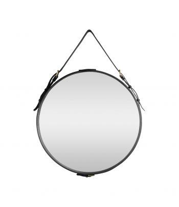 Apvalus veidrodis odiniu rėmu