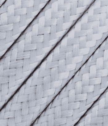 Šviesiai pilkas tekstilinis kabelis 2x0,75 mm²