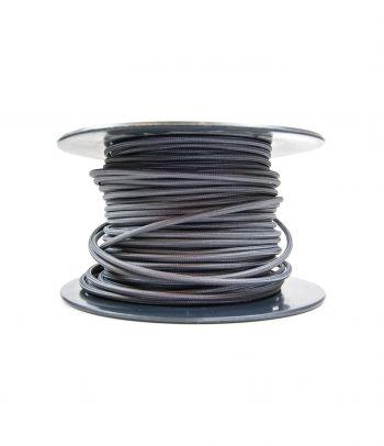 Didmeninė kaina 2x0,75 mm² kabelis tamsiai pilkas 100 m