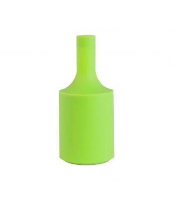 Ryškus silikoninis lemputės lizdo cokolio gaubtas lime green